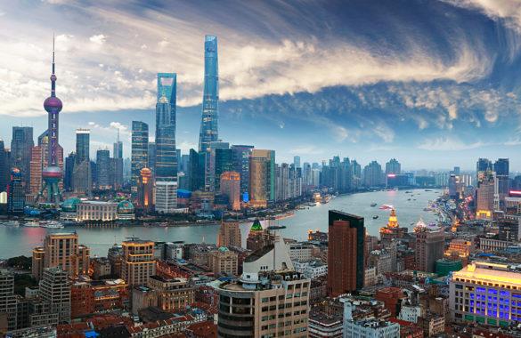 Shanghai látkép