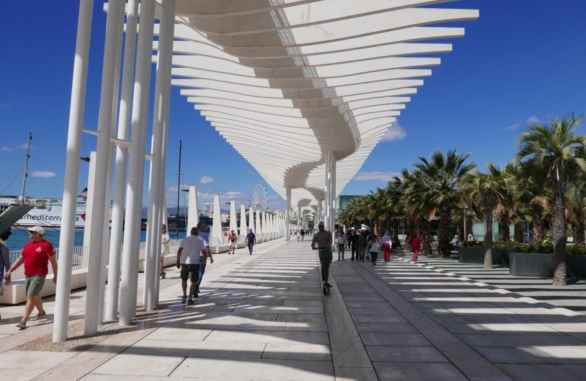 Andalúz utazás 2. rész, Malaga kikötői sétány